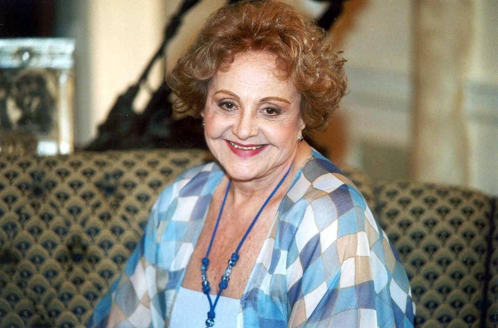 Eva Todor como a personagem Josefina, na novela 'O Cravo e a Rosa' (Foto: Reprodução/GloboNews)