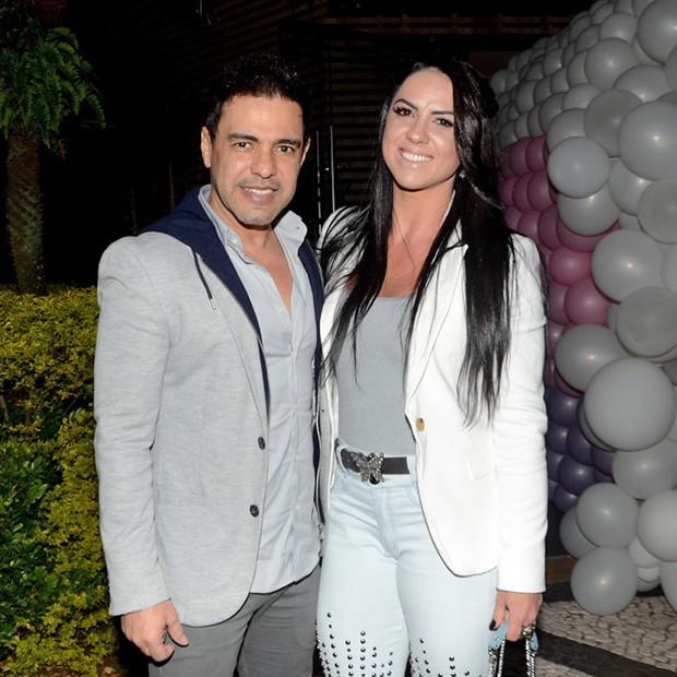 Zezé Di Camargo e Graciele Lacerda (Foto: Eduardo Martins / Agnews)