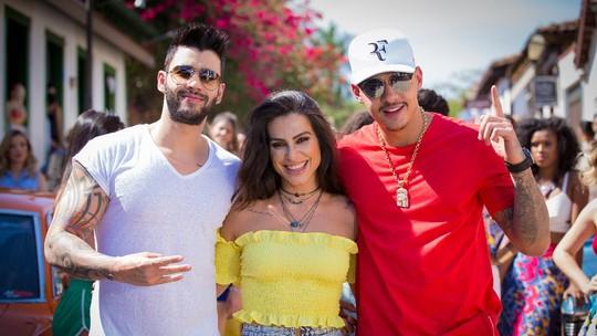 Gusttavo Lima lança clipe com Cleo Pires no 'Vídeo Show'