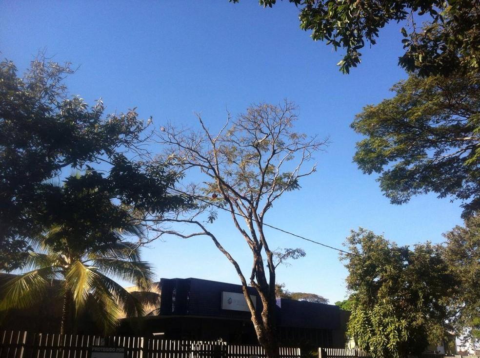 -  De acordo com o Inmet, a previsão é de céu claro com névoa seca nas regiões do Triângulo Mineiro  Foto: Bárbara Almeida/G1