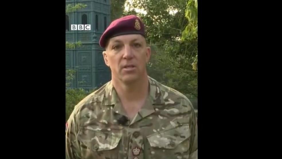 O soldado Ben Caesar, em entrevista à BBC — Foto: BBC/Reprodução