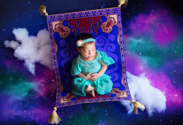 Jasmine, de Aladdin, recém-nascida (Foto: Karen Marie)