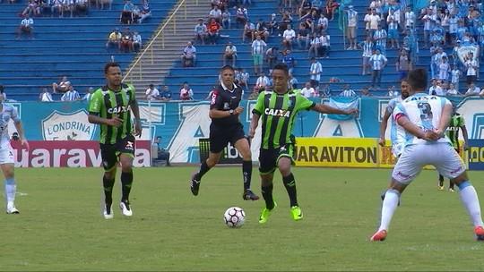 Veja os melhores momentos de Londrina 0 x 0 América-MG