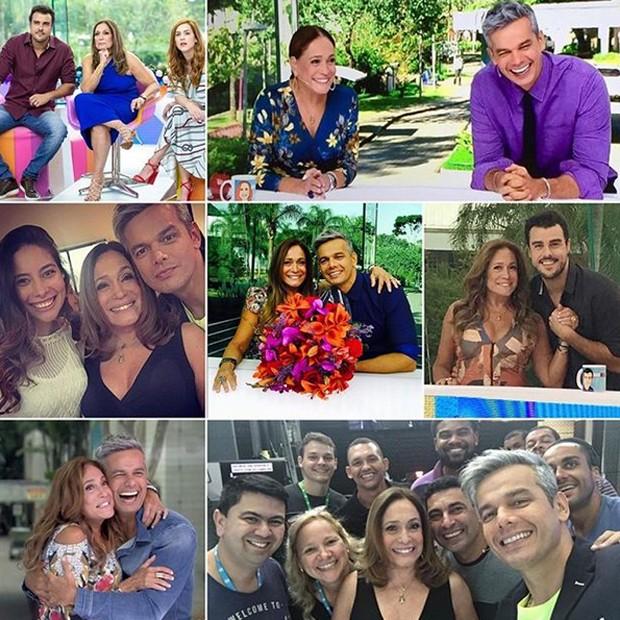 Susana Vieira mostra alguns de seus vários momentos no Vídeo Show (Foto: Reprodução/Instagram)