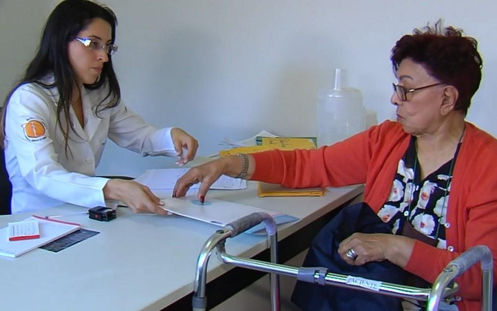 Ação Global oferece consultas em Aparecida de Goiânia (Foto: TV Anhanguera/ Reprodução)