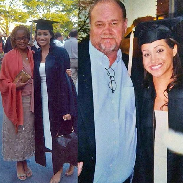 Meghan Markle e os pais, Thomas Markle e Doria Radlan (Foto: Reprodução/ Instagram)
