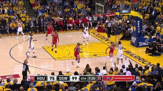 Em série com queda de Curry e Harden nos 3 pontos, Klay Thompson vira maior arma