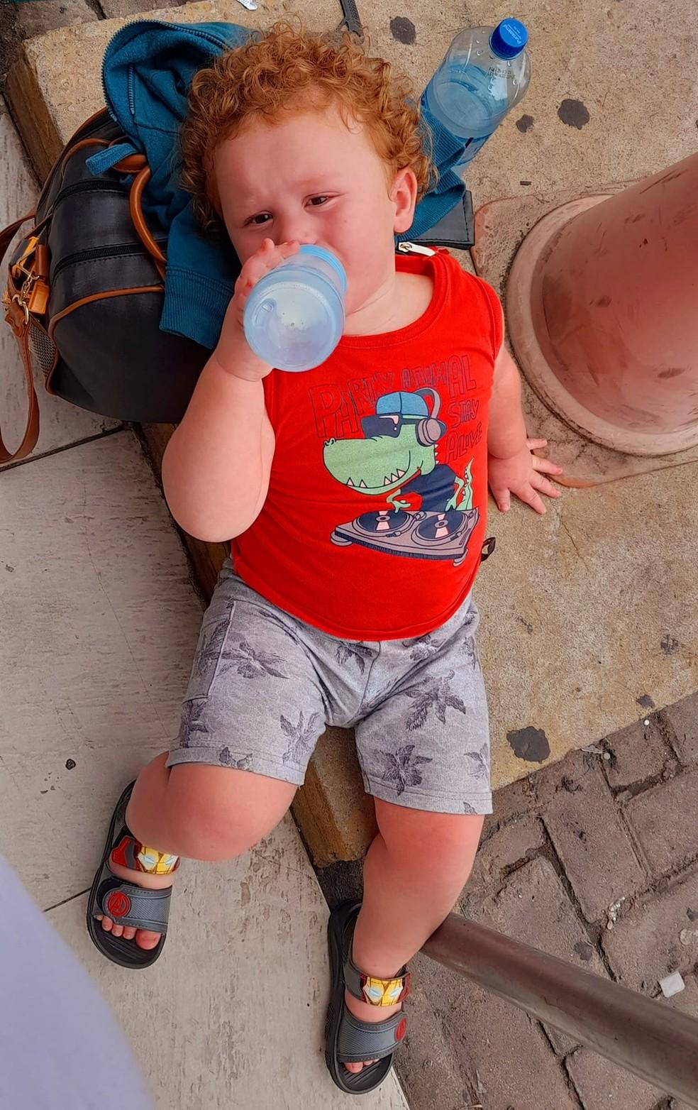 Menino de 2 anos precisa de cirurgia no coração e família faz vaquinha virtual para arcar com custos em MT — Foto: Arquivo pessoal