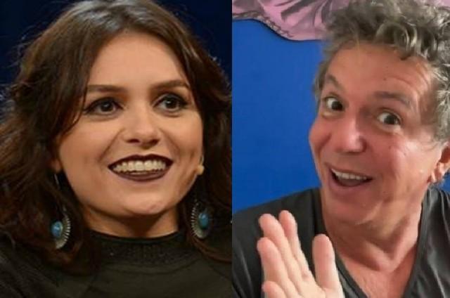 Monica Iozzi se reuniu com Boninho quando foi contratada pela Globo, em 2013 (Foto: Divulgação/Globo e Reprodução)