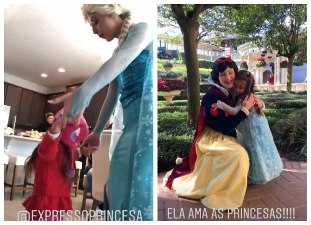 Deborah Secco leva Maria Flor para a Disney (Foto: Instagram/Reprodução)