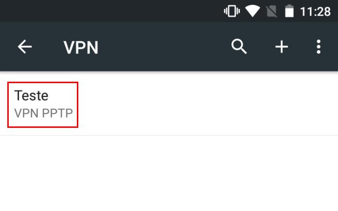 Conectando com a nova conexão VPN (Foto: Reprodução/Edivaldo Brito)