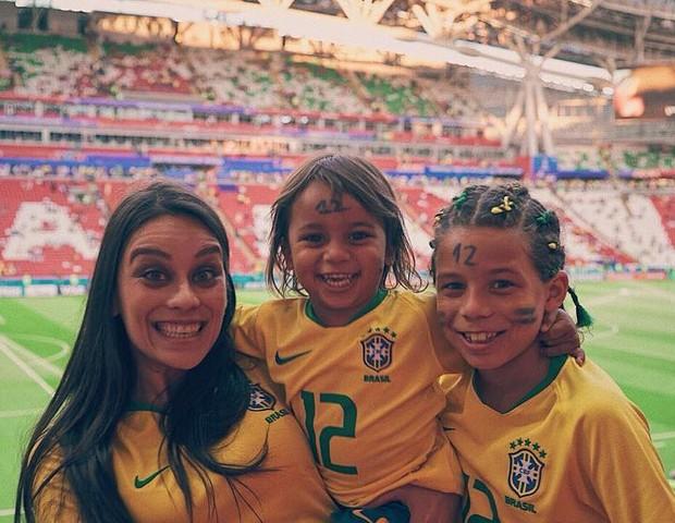 Clarice, Liam e Enzo Alves, a família do jogador Marcelo (Foto: Reprodução/Instagram)