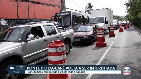 Retomada de interdições na Ponte do Jaguaré causa congestionamentos