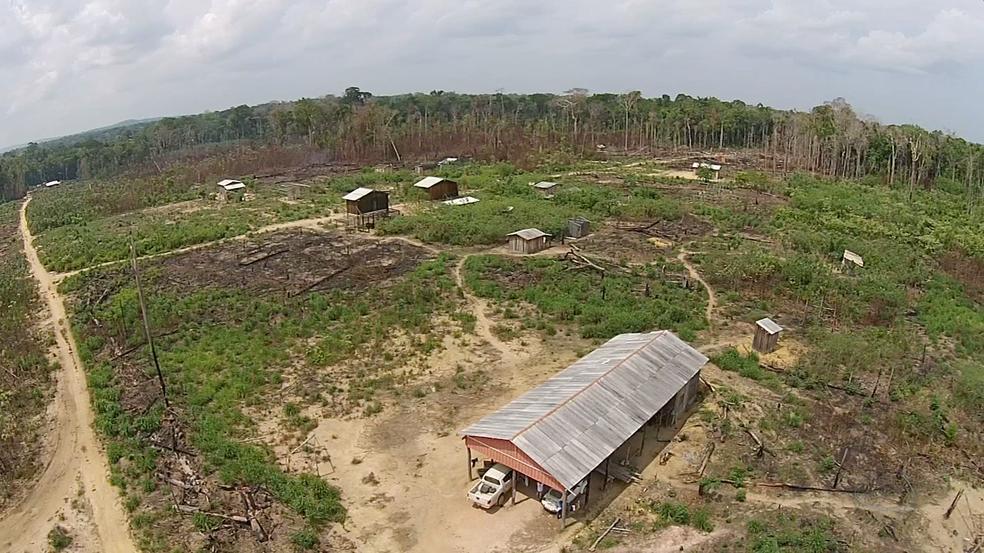 Chacina deixou nove mortos em gleba localizada na zona rural de Colniza, em abril deste ano (Foto: Reprodução/TVCA)