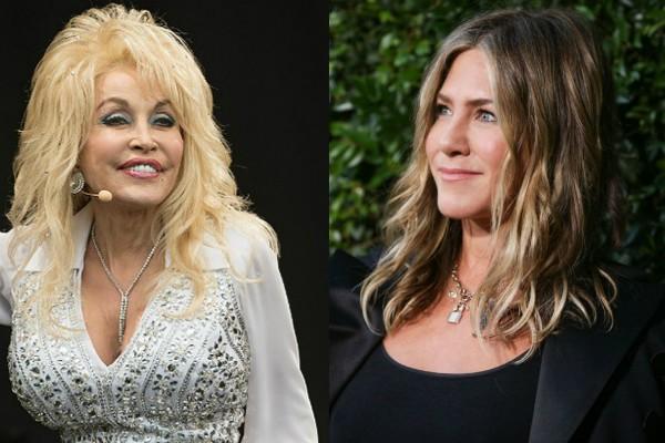 Dolly Parton e Jennifer Aniston  (Foto: Getty Images)