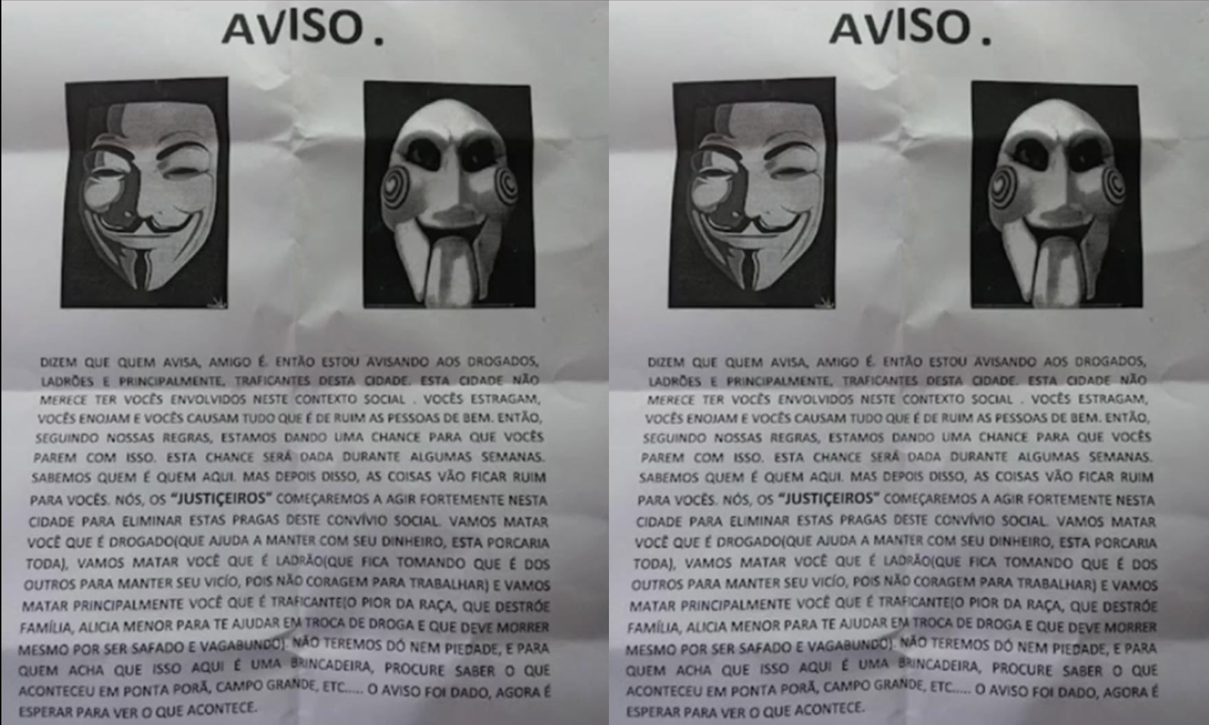 Avisos de morte são deixados por grupo que assinou execuções na fronteira Paraguai/Brasil: 'Não teremos dó'