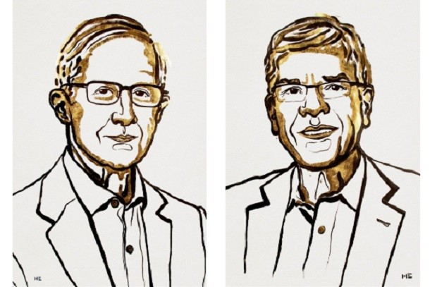 William D. Nordhaus e Paul M. Romer, vencedores do Nobel de economia em 2018  (Foto: Divulgação The Nobel Prize)