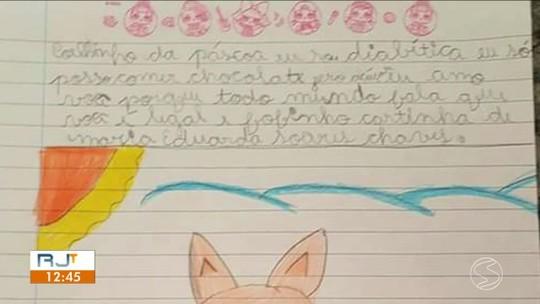 Menina diabética escreve carta para Coelhinho da Páscoa pedindo ovo zero açúcar