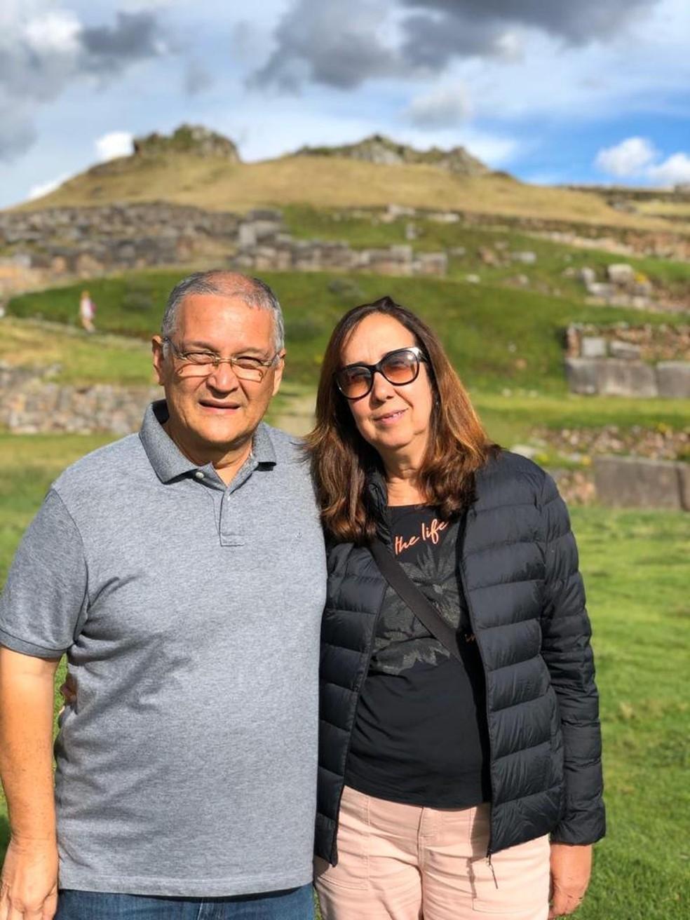Maria Viviani Nobre e o marido João Alves de Melo Neto — Foto: Arquivo pessoal