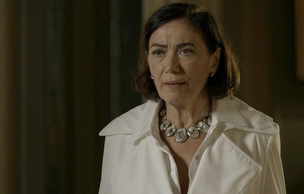 Valentina (Lilia Cabral) quer que Judith (Isabela Garcia) seja presa, em 'O Sétimo Guardião' — Foto: Reprodução/TV Globo