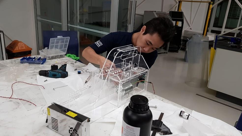 Respirador desenvolvido pela Mercedes-Benz e pelo Instituto Mauá de Tecnologia — Foto: Divulgação