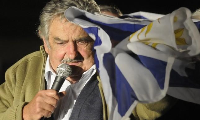 O uruguaio José Mujica durante discurso em outubro de 2009