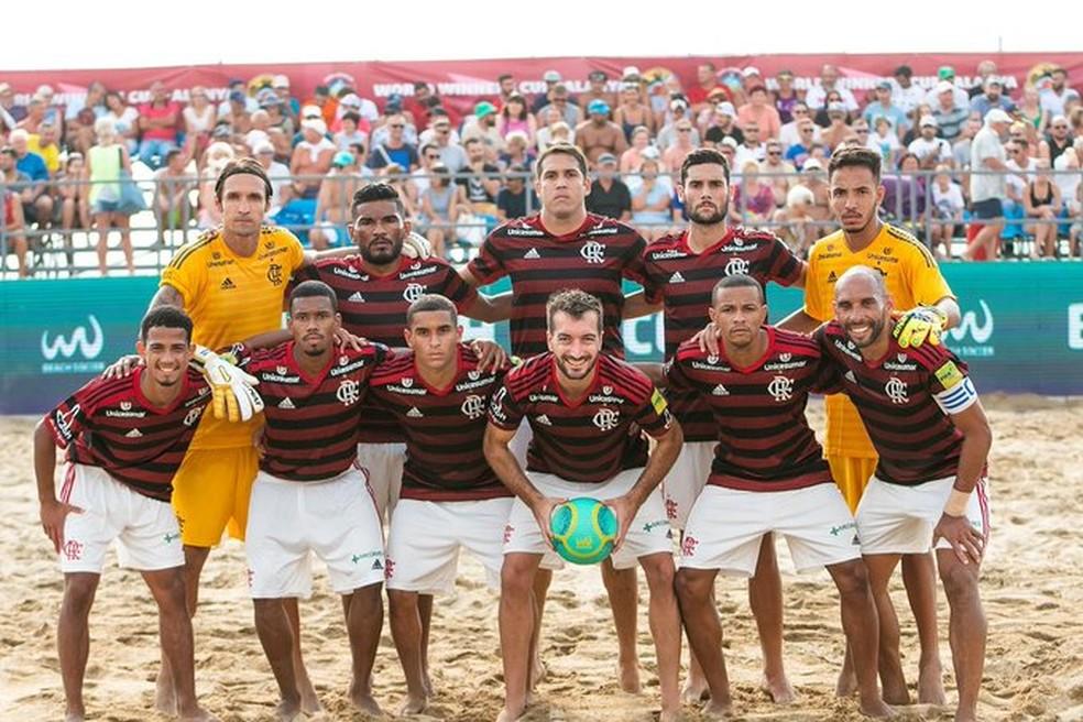 Flamengo busca o título inédito da Liga Mundial de futebol de areia — Foto: Alysson Rodrigues/Flamengo Beach Soccer