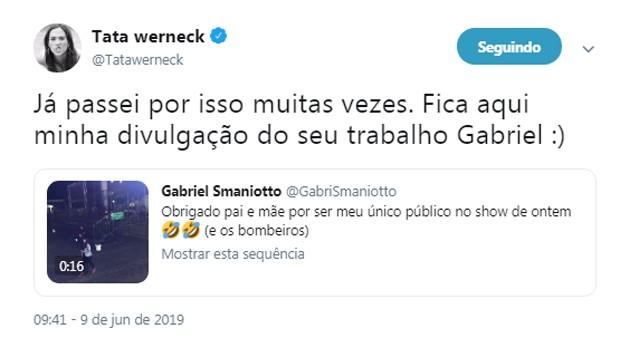 Tata Werneck (Foto: Reprodução/Twitter)