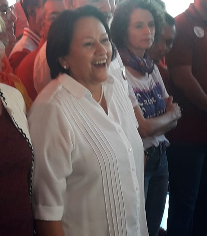 Fátima Bezerra foi escolhida pelo PT para disputar o governo do RN (Foto: Heloísa Guimarães/Inter TV Cabugi)