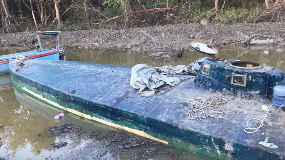 PF afirma que quadrilha utilizava submarino para tráfico de drogas — Foto: Divulgação/PF