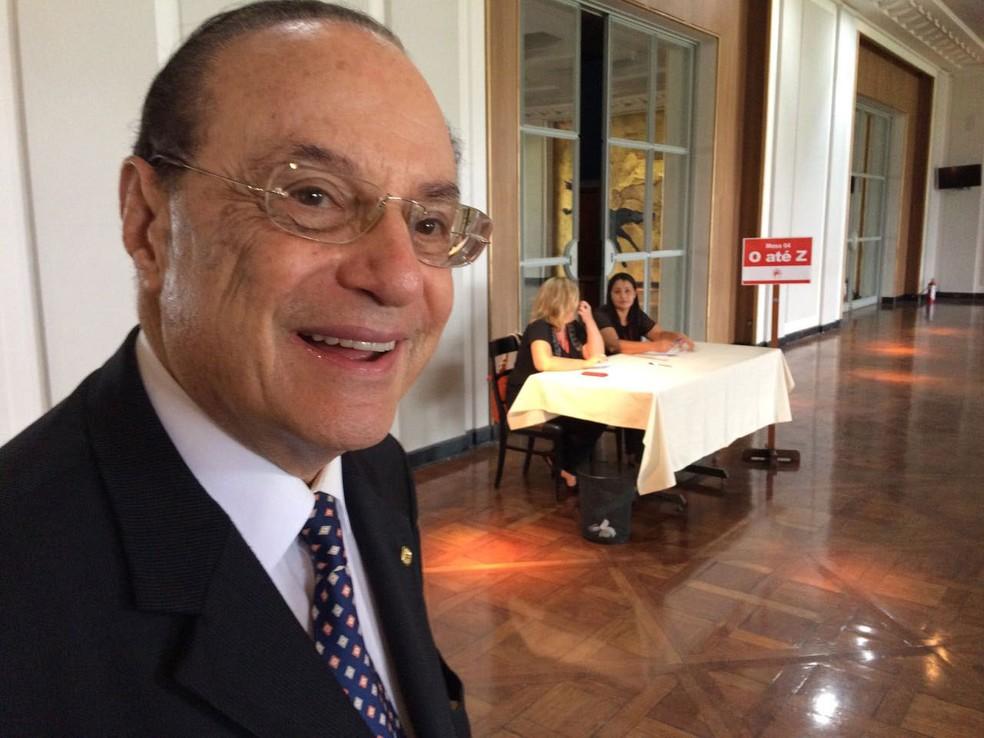Paulo Maluf é um dos 460 com nome na lista dos aptos a votar na eleição desta terça (Foto: Will Soares/G1)