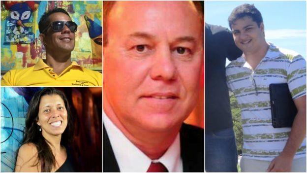 Preocupações com segurança e com corrupção são alguns dos motivos mais recorrentes para voto; da esq. para a dir., Fabio, Patricia, André Luiz e Caio (Foto: Arquivo pessoal via BBC News Brasil)