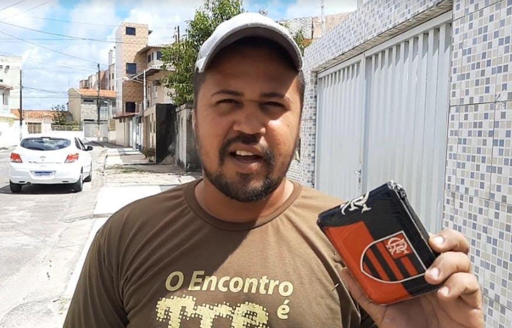 'Esse dinheiro iria fazer muita falta', diz ajudante de pedreiro de São Cristóvão ao recuperar cartão perdido junto com a senha