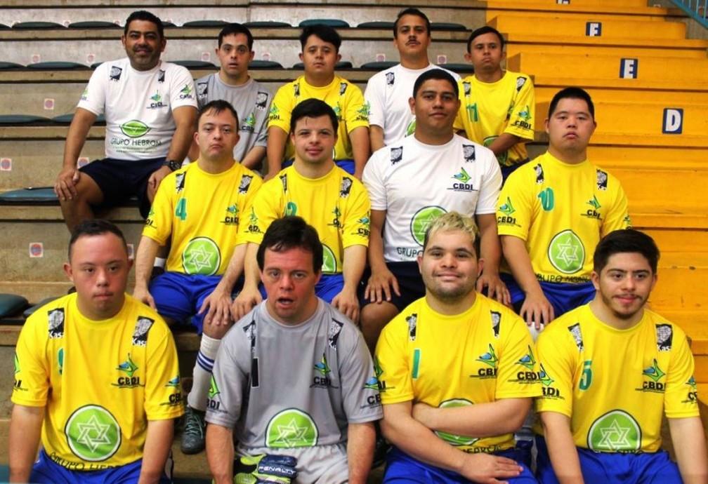 Seleção Brasileira de Futsal Down — Foto: Reprodução