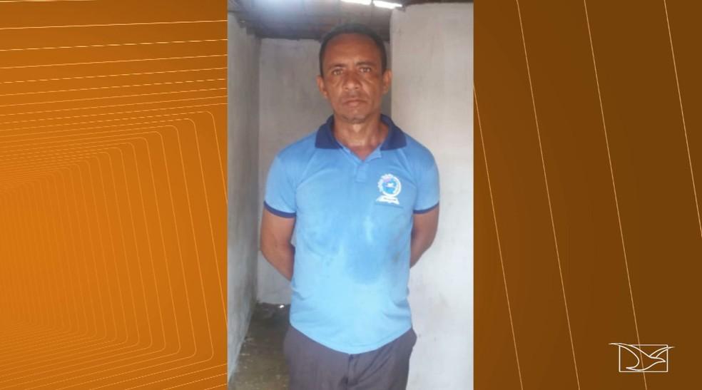 Antônio José Vieira está preso na Delegacia de Santa Luzia — Foto: Reprodução/TV Mirante