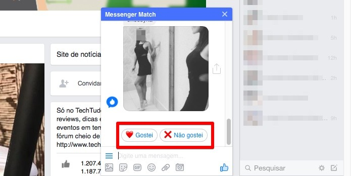 'Tinder' embutido no Facebook Messenger