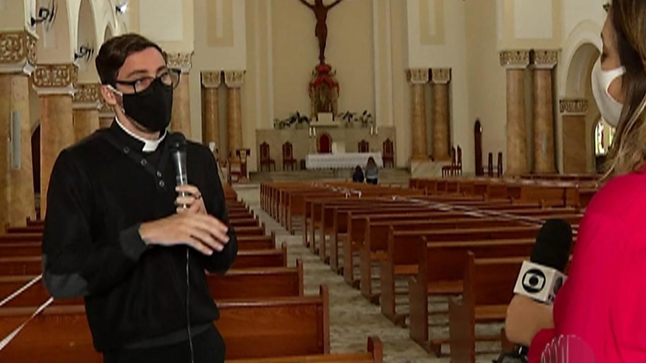 Igrejas de Mogi das Cruzes podem receber até 60% da capacidade de fiéis