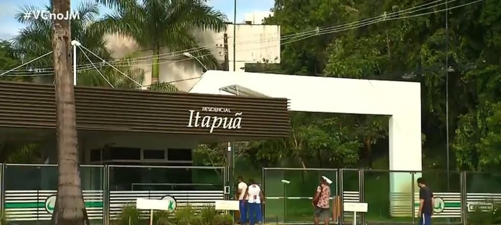 Crime aconteceu em condomínio de luxo em Salvador — Foto: Reprodução/ TV Bahia