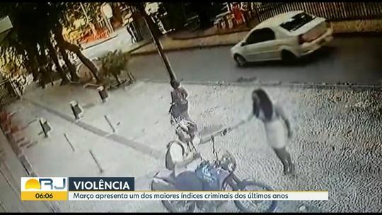 Câmeras de segurança flagram ação de bandido no Humaitá