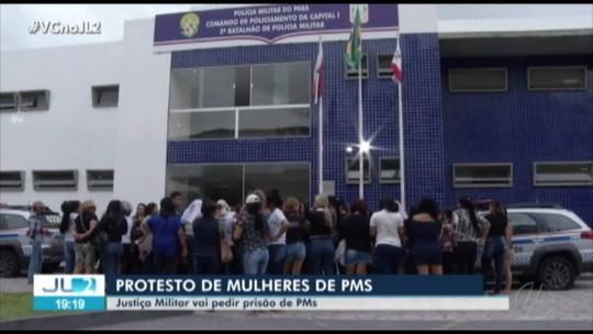 Esposas e mães de policiais ocupam sede de batalhão da PM em Belém há mais de 24 horas