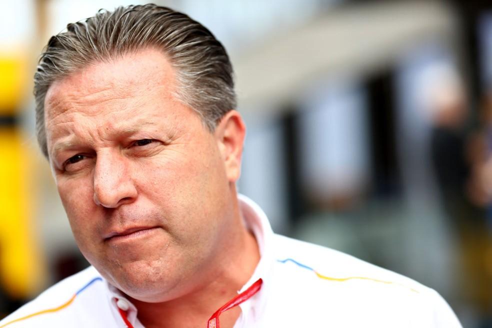Zak Brown, CEO da McLaren — Foto:  Mark Thompson/Getty Images