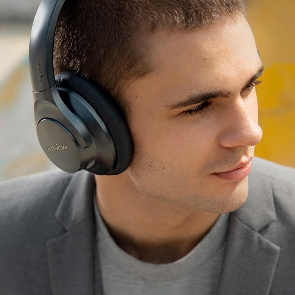 Anker Life Q20 possui sistema de cancelamento de ruído ativo — Foto: Divulgação/Anker