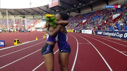 Time das Américas vence a prova 4x100m feminino da Copa Continental de Atletismo