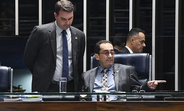 Flávio Bolsonaro e Jorge Kajuru