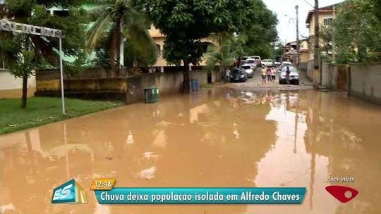 Chuva destrói cômodos, muros e alaga ruas em municípios do ES