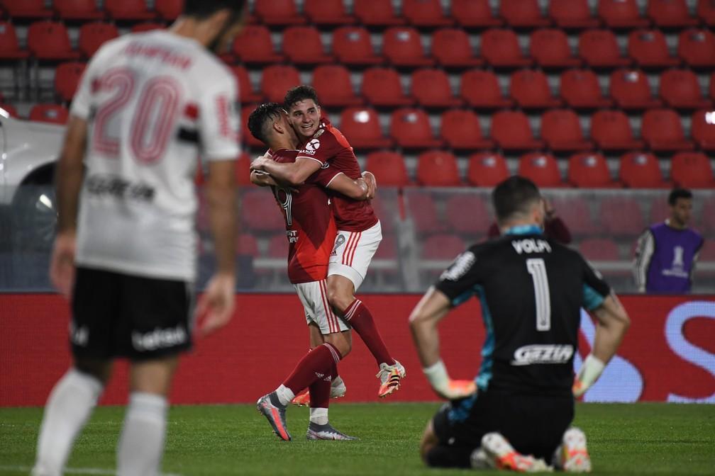 São Paulo foi eliminado na Libertadores após derrota para o River Plate — Foto: Staff Images/Conmebol