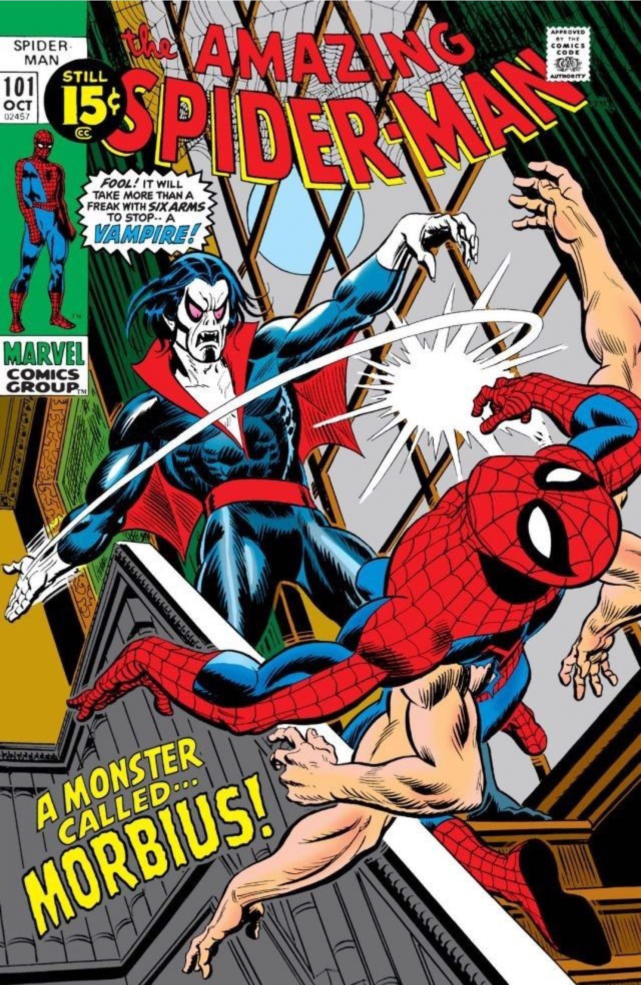 Morbius nos quadrinhos do Homem-Aranha (Foto: Divulgação)