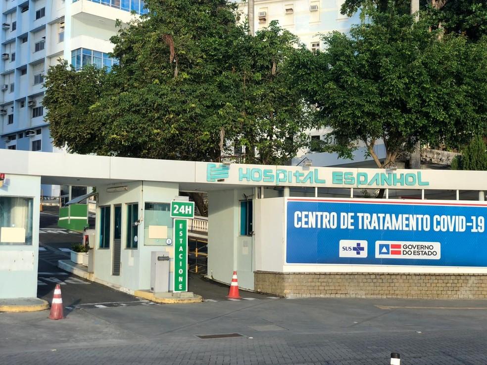 Hospital Espanhol, exclusivo para pacientes com Covid-19, em Salvador — Foto: Pablo Vasconcelos/TV Bahia
