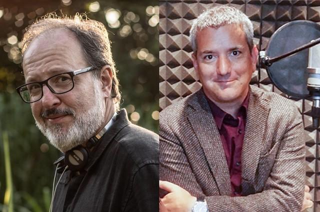 O diretor José Eduardo Belmonte e o escritor peruano Santiago Roncagliolo (Foto: Divulgação)
