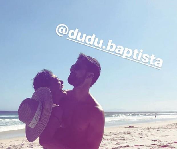 Juliana Paes e Dudu Baptista (Foto: Reprodução/Instagram)